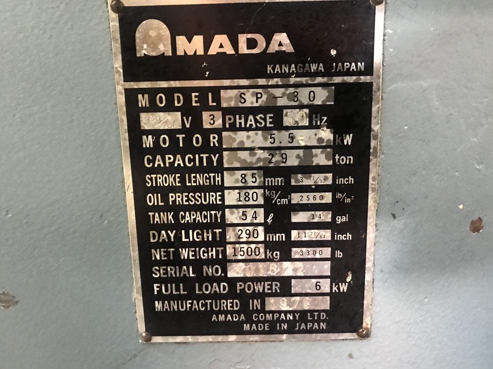 AMADA SP30 Punching Machine